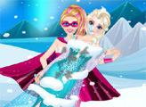 Игра Супер Барби спасает Эльзу