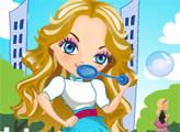 Игра Девочка с мыльными пузырями наряжается