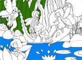Игра Раскраски: Остров фей