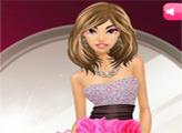 Игра Красивый макияж: Чёрный и розовый