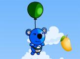 Игра Синяя Панда собирает фрукты