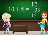 Игра Эльза и Анна в школе