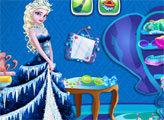 Игра Эльза и уборка в гардеробной