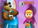 Игра Маша и медведь наряжаются