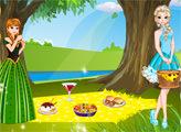 Игра Эльза и Анна - время пикника