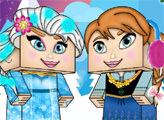 Игра Холодное Сердце: Сестры в стиле Майнкрафт