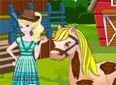 Игра Эльза на лошадиной ферме