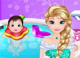 Игра Эльза и спа для малыша