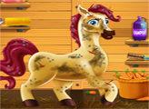 Игра Малышка Барби ухаживает за пони