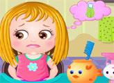 Игра Малышка Хейзел: Уход за волосами