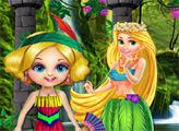 Игра Лесная принцесса и спа-ванна