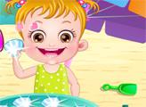 Игра Малышка Хейзел на пляже