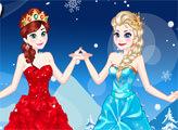 Игра Эльза и Анна  - гламурные модницы