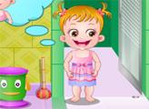 Игра Малышка Хейзел: Гигиена в ванной комнате