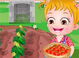 Игра Малышка Хейзел выращивает помидоры
