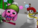Игра Тото и Сиси катаются на лыжах
