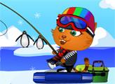 Игра Сиси - зимняя рыбалка