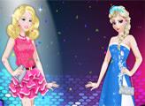 Игра Дракулаура, Барби, Эльза - модный микс
