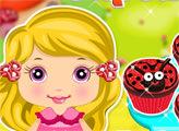 Игра Малышка готовит кексы