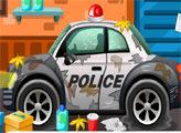 Игра Полицейский автомобиль и автомойка