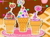 Игра Мороженое в рожке, конфеты и кексы