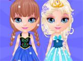 Игра Малышка Барби: Вечеринка в стиле Холодного сердца