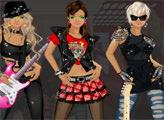 Игра Барби и рок мода