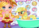 Игра Малышка Барби и Маленький пони 2
