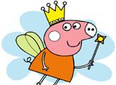 Игра Свинка Пеппа фея - раскраска