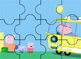 Игра Пеппа с семьей едут в путешествие - пазл