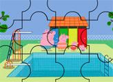 Игра Свинка Пеппа с семьей в бассейне - пазл