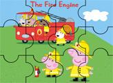 Игра Пеппа и пожарные - пазл