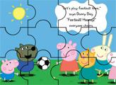Игра Свинка Пеппа играет в футбол - пазл