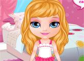 Игра Малышка Барби собирается на девичник