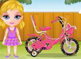 Игра Малышка Барби: Езда на велосипеде