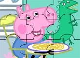 Игра Свинка Пеппа ест - пазл