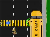 Игра Школьный автобус на дороге