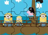Игра Пеппа пират с миньонами - пазл