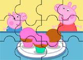 Игра Пирожные Пеппы и Джорджа - пазл
