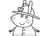 Игра Свинка Пеппа пожарная - раскраска