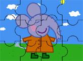 Игра Свинка Пеппа и её друг-слон - пазл
