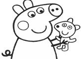 Игра Свинка Пеппа с игрушкой - раскраска
