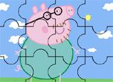 Игра Папа свин - пазл