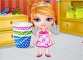 Игра Малышка Барби работает в саду