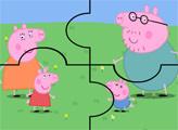 Игра Свинка Пеппа с семьей на лугу - пазл