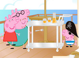 Игра Пляжный домик Пеппы