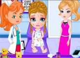 Игра Несчастный случай с Малышкой Барби