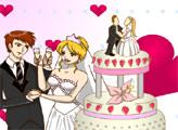 Игра Раскрась свадебный торт