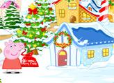 Игра Рождественский город Свинки Пеппы