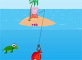 Игра Свинка Пеппа - день рыбалки